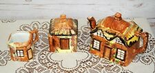 Vintage Art Deco 1930s Price Bros Cottage Ware Ceramic Tea Set Pot Milk Sugar