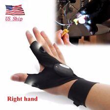 LED Finger Glove Flashlight Waterproof Right Rescue Auto Repair Lighting