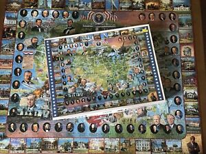 1994 White Mountain Puzzle United States Presidents 1000 Pcs. Puzzle, Complete