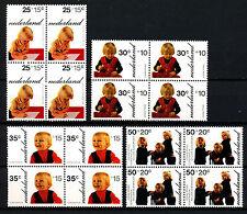 Nederland 1020 - 1023 postfris in blokken van vier