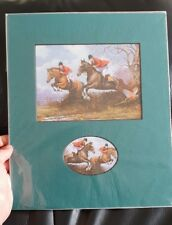 12 x 10 double Fox Hunting mounting print by kevin walsh