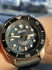 SEIKO 5 Automatic Watch Blue Meteorite Dial Rose Gold Case