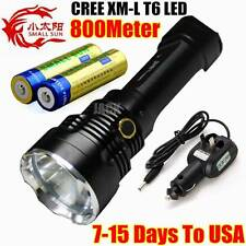 SMALL SUN 800METER 2500LM TACTICAL CREE XM-L T6 LED FLASHLIGHT 18650 Torch Lamp