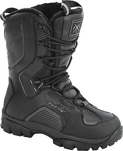 Fly Racing - 361-97008 - MARKER BOOTS BLACK SZ 08 Snow 361-97008