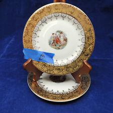 LE PETITE 22K Gold Crusby Angelica Kauffman Vintage China Dessert Plates Scene B