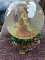 Large Angel With Baby Musical Snow Globe Song Hark The Herald  Angels Sing