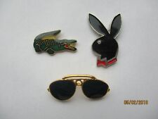 VINTAGE LACOSTE POLO RAY-BAN SUNGLASSES PLAYBOY BUNNY DESIGNER PIN BADGE JOB LOT