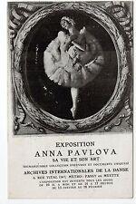 RUSSIE Russia Théme personnalités russes ANNA PAVLOVA danseuse