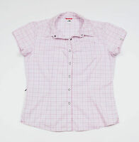 THE NORTH FACE Womens White checked Casual shirt, short sleeved Size XL