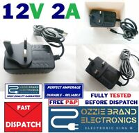 24W AC/DC 12V 2A Power Supply Adapter 3 PIN UK Plug For LED Strip Light 3528