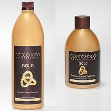 COCOCHOCO GOLD BRAZILIAN KERATIN TREATMENT BLOW DRY HAIR STRAIGHTENING KIT + OPT