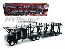 NEWRAY 1:32 FREIGHTLINER CLASSIC XL CAR CARRIER DIE-CAST BLACK 10003A