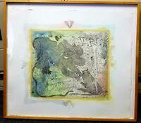 STANLEY BOXER Hand Signed 1979 Original Color Etching Rare Lion Print