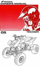 New listing 2005 Honda Trx450R Atv Owners Manual -Trx 450 R-Honda-Trx450