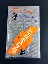ORANGE CHEVY BOWTIE AIR FRESHENER * MIDNIGHT FREEZE Chevrolet emblem rat rod