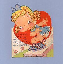 Vintage Valentine Card Valentine'S Day 1950s I'm A Good Skate Roller Skating