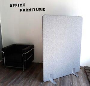 Akustik Trennwand - Büro Stellwand - Stoff Grau NEU - freistehende Raumtrennung