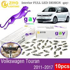 10 Bulb Deluxe White LED Interior Dome Light Kit For 2011-2017 Volkswagen Touran