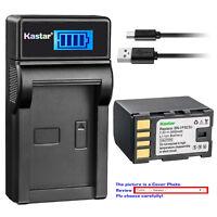 Kastar Battery LCD Charger for JVC BN-VF823 BN-VF823U JVC BN-VF923 BN-VF923U