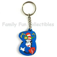 Dr. Seuss~1997 Steller Gifts~Key Chain Ring~Cat in the Hat~Pvc Figure~B~New Nos
