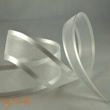 Quality Cut Lengths Satin Edge Organza Ribbon 10mm 15mm 25mm 40mm Crafts Tying