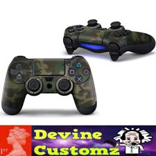PS4 playstation controller Green Camo brown sticker set camoflauge