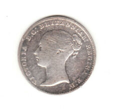 1840 Great Britain Queen Victoria  Sterling Silver Threepence.
