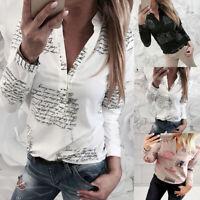 Women long Sleeve Loose Shirts Fashion Ladies Casual Blouse Tops Shirt Button
