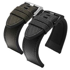 Nylon Watchband Canvas Strap Fit For Diesel DZ4500 DZ4506 DZ7420 24mm 26mm 28mm