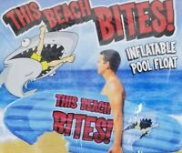 NEW INFLATABLE POOL FLOAT Shark Bite Surf Board Big Mouth Toys This Beach Bites!