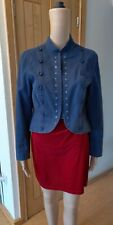 Principles Petite Navy Cotton Victorian Steampunk Military Jacket UK 14 VGC