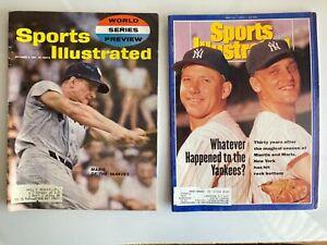 Roger Maris 10/2/1961 World Series & w/Mantle 1991 Sports Illustrated magazine