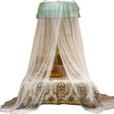Bed Canopy Hanging Round Mosquito Net Lace Top Curtain Dome Tent Kids Princess