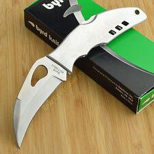 Spyderco Byrd Crossbill 8Cr13MoV Stainless Plain Edge Lockback Knife By07P