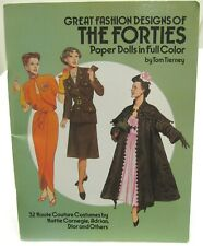 New ListingDover Great Fashion Designs of The Forties Paper Dolls by Tim Tierney Uncut 1987