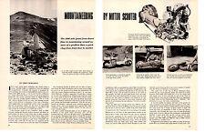 1956 LAMBRETTA MOTOR SCOOTER  ~  ORIGINAL 5-PAGE ARTICLE / AD