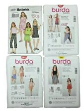 Butterick 3860 Burda 9489 9467 9468 LOT of 4 KIDS Skirt Beach Top Shorts UNCUT