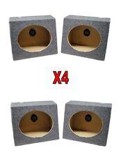 4x 6 x 9 Slanted Carpeted Real 5/8 MDF Speaker Sealed Box Cabinet Enclosures