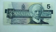1986 CANADIAN 5 Dollar Banknote Uncirculated 3 of 3