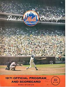 1971 (Apr.11) Baseball Program Cincinnati Reds @ New York Mets, scored, Grote HR