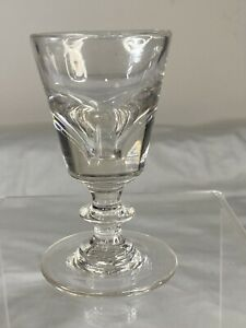 Antique Blown Glass Sherry Wine Cordial, with Knop at Stem, c. 1820