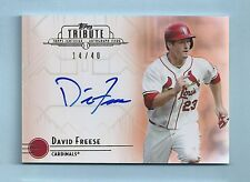 DAVID FREESE 2014 TOPPS TRIBUTE SIGNATURE AUTOGRAPH AUTO /40