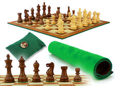 """Monarch Staunton Wood Chess Set Pieces 2-3/4""""+ Chess Board 13"""" - House of Chess"""