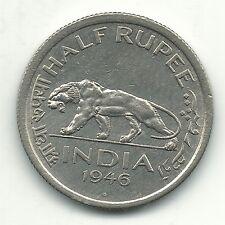HIGH GRADE AU/UNC 1946 B INDIA HALF RUPEE COIN-NOV585