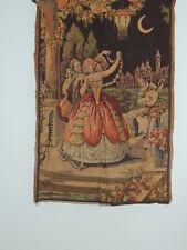 Vintage Tapestry w Romantic Scene - Belgium