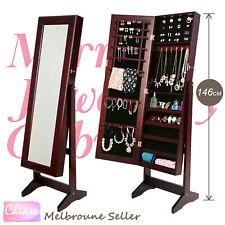 Mirror Jewellery Cabinet LUVO - Walnut