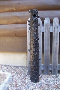 Antique Victorian Cast Iron Tree Grape Vine Hitching Post Architectural Column
