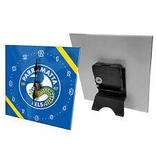 Parramatta Eels NRL Mini Analogue Glass Clock Bedside table Christmas Gift