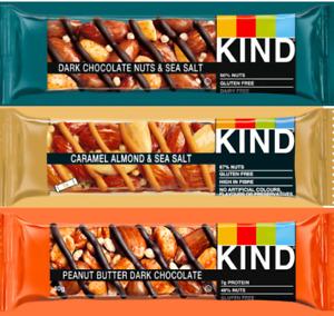 Kind Dark Chocolate Almond Caramel Peanut Butter 12, 24, 36 x 40g OUT OF DATE