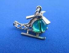 VINTAGE NUVO STERLING SILVER CHARM PENDANT HELICOPTER